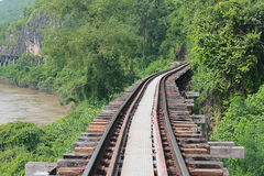 Railway. Railway in Kanchanaburi, Thailand Royalty Free Stock Photos