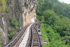 Railway. Railway in Kanchanaburi, Thailand royalty free stock image