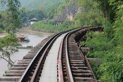 Railway. Railway in Kanchanaburi, Thailand Stock Photos