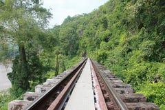 Railway. Railway in Kanchanaburi, Thailand royalty free stock images