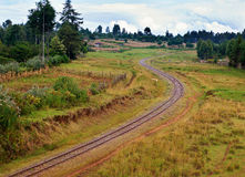 Railway in Kenya Royalty Free Stock Images