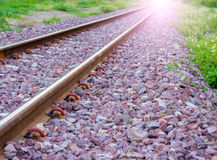 Railway2. Kerr Thailand railway train is coming now Stock Image