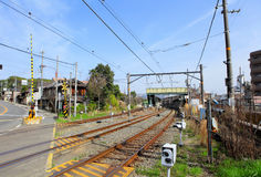Railway in Kyoto city Royalty Free Stock Photos