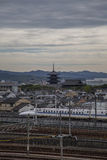 Railway in Kyoto, Japan Royalty Free Stock Photo