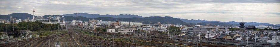 Railway in Kyoto, Japan Royalty Free Stock Image
