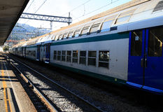 Railway in la spezia Stock Photo