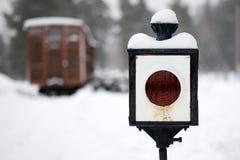 Railway lamp Stock Image