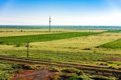Railway landscape Stock Photography