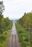 Railway in a landscape Stock Image