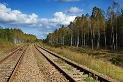 Railway line Stock Images