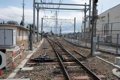 Railway line in Japan Stock Photo