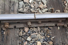 Railway line join Stock Image