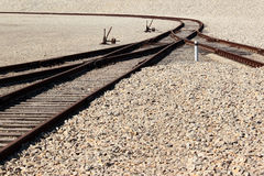 Railway line with junctions and switches Royalty Free Stock Images