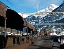 Railway line from Kandersteg to Goppenstein Royalty Free Stock Image