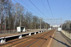 The railway line of the Kiev direction of the Moscow railway Royalty Free Stock Images