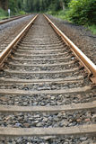 Railway line in a rural area Royalty Free Stock Photo