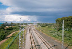 Railway line Royalty Free Stock Photo