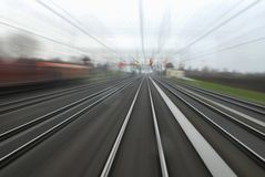 Railway line Stock Photos