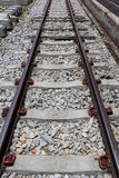 Railway line for transportation Stock Photos