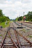 Railway Lines. Railways Lines lead to the Train Station Stock Image