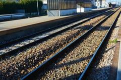 Railway lines, background Stock Photo