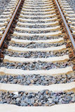 Railway lines closeup Stock Photo