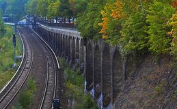 Railway lines in Color Royalty Free Stock Image