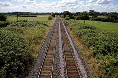 Railway lines in the English countryside Stock Images
