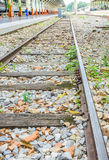 Railway lines travel through a railway station Stock Images