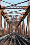 Railway on Long Bien bridge Royalty Free Stock Photo