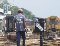 Railway lover Stock Photography