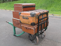 Railway Luggage Trolley. Stock Photography