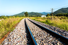Railway in lumphun province Thailand Stock Photos