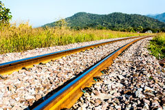 Railway in lumphun province Thailand Royalty Free Stock Images