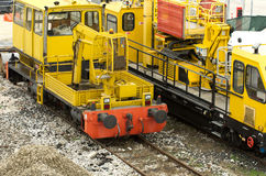 Railway machinery Royalty Free Stock Image