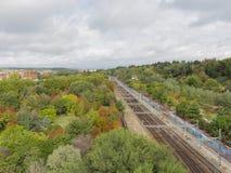 Railway in Madrid Stock Image