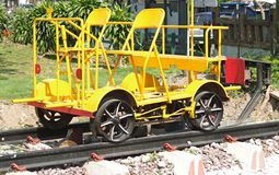 Railway Maintainence Trolley- hand operated. Royalty Free Stock Images