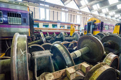 The railway maintenance and factory inside. Royalty Free Stock Photography