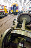 The railway maintenance and factory inside. Stock Images
