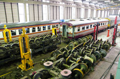 The railway maintenance inside. Stock Images