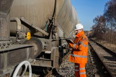 Free Railway Maintenance Inspector Royalty Free Stock Photography - 113721697