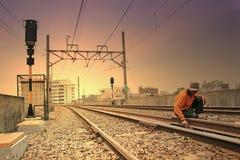 Railway maintenance Stock Images