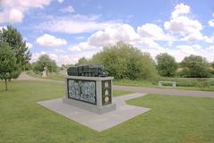 Railway Memorial. To commemorate the achievements of the railways from their humble beginnings until the present day. Also includes a tribute to railway workers Stock Image