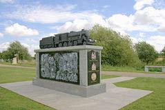 Railway Memorial. To commemorate the achievements of the railways from their humble beginnings until the present day. Also includes a tribute to railway workers Royalty Free Stock Photography