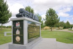 Railway Memorial. To commemorate the achievements of the railways from their humble beginnings until the present day. Also includes a tribute to railway workers Royalty Free Stock Image