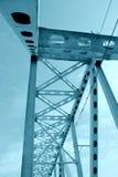 Railway metal bridge perspective view Stock Images