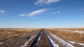 Railway. In the middle of Colorado Stock Image