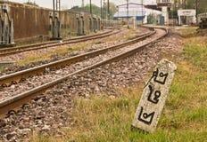 Railway milestone number 485 Stock Photo