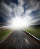 Railway motion blur Royalty Free Stock Images