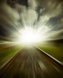 Railway motion blur Stock Images